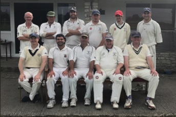 Temple Cloud 2nd XI 2017. R Gale, I Appleyard, P Lester, D Raisebeck, C Wilton, R Appleyard. A Comer, G Veater, M Veater, N Campbell, S White